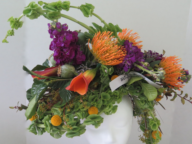 floral headpiece by artiflora